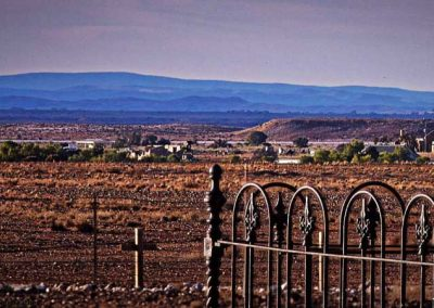 Looking from the Farina cemetery back towards the town (over a Km away) through a long telephoto lens