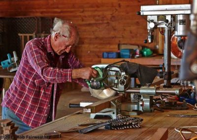 Well equipped workshop in the huge shearing shed