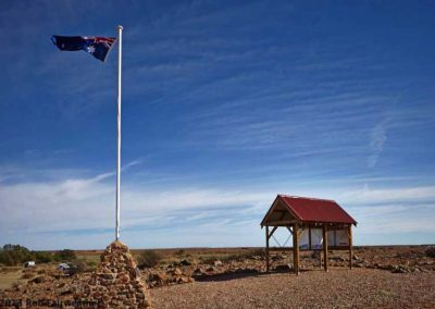 The Farina ANZAC memorial site which overlooks the camping and van site