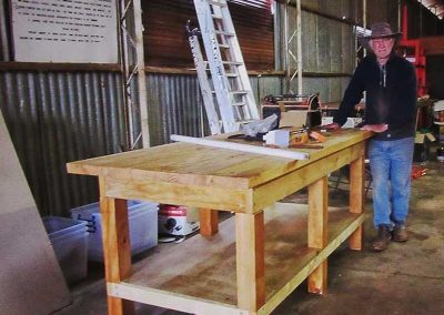 The new joinery bench_built by Peter