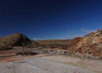 Creekbed fossil site.