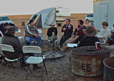 Chat around the camp fire