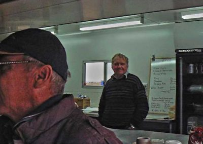 Ken and Bill in the servery.