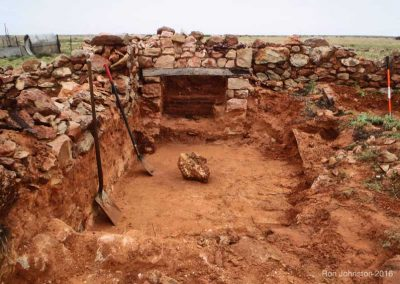 A stove built by A Simpson & Son in Adelaide was found in the second room at the site.