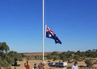 Half mast Australian flag