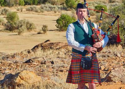 Scottish piper (David Barnard) plays prior to the service begins and again during part of the service.