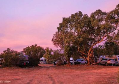 Part of the general camping area at dusk on June 1st