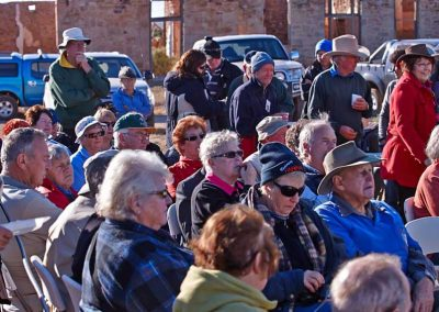 Anzac morning 2012 opposite Transcontinental during address by Peter Thomas